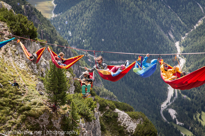highline hammock session monte piana by sebastian wahlhutter 5 Highline Hammock Session in the Dolomites
