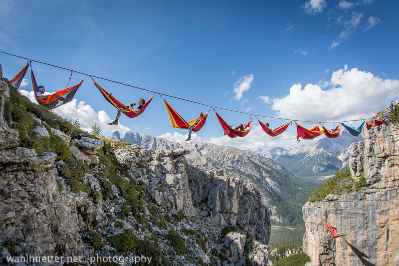 highline hammock session monte piana by sebastian wahlhutter 8 Highline Hammock Session in the Dolomites