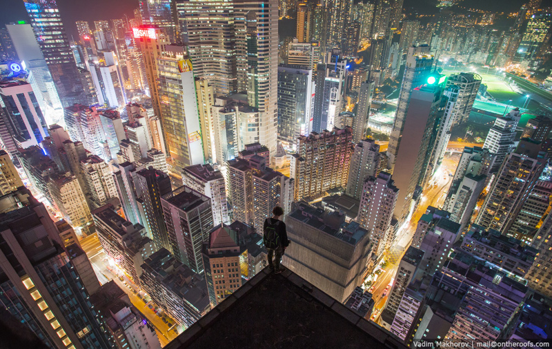 hong kong at night from above rooftopping aerial on the roofs vadim makhorov The Top 100 Pictures of the Day for 2014