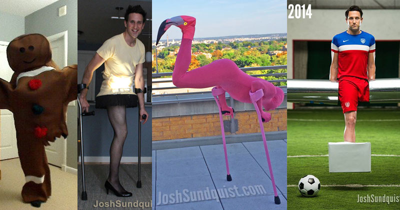 Josh Sundquist Uses His One Leg to Make the Best Halloween Costumes Ever