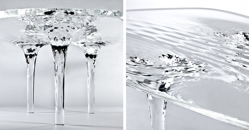 Rippling Water Tables by Zaha Hadid
