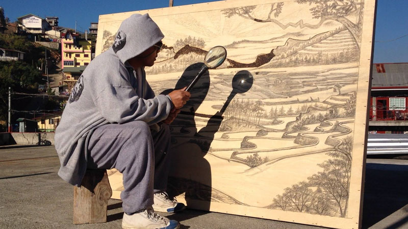 Solar Drawings Made with a MagnifyingGlass