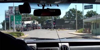 Amateur Footage Shows Train Crashing Into 18-Wheeler Stuck onTracks