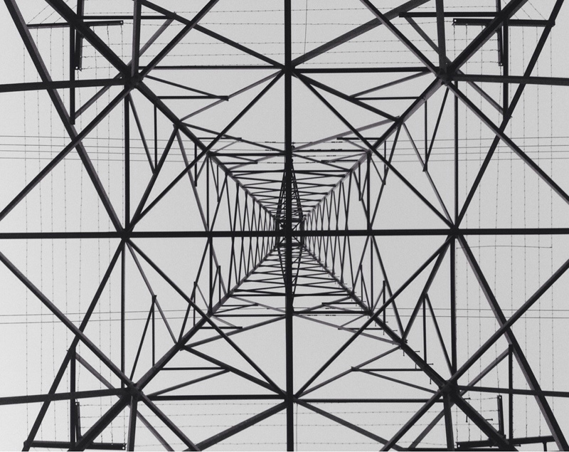 underneath a transmission tower Picture of the Day: Underneath a Transmission Tower