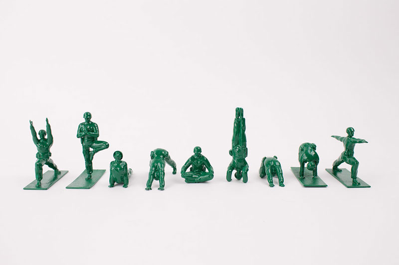 Yoga Joes: Little Plastic Green Army Men Doing Yoga
