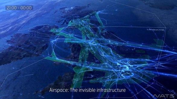 24 heures-de-Voyage-dans-la-uk-espace aérien-in-a-typique-jour