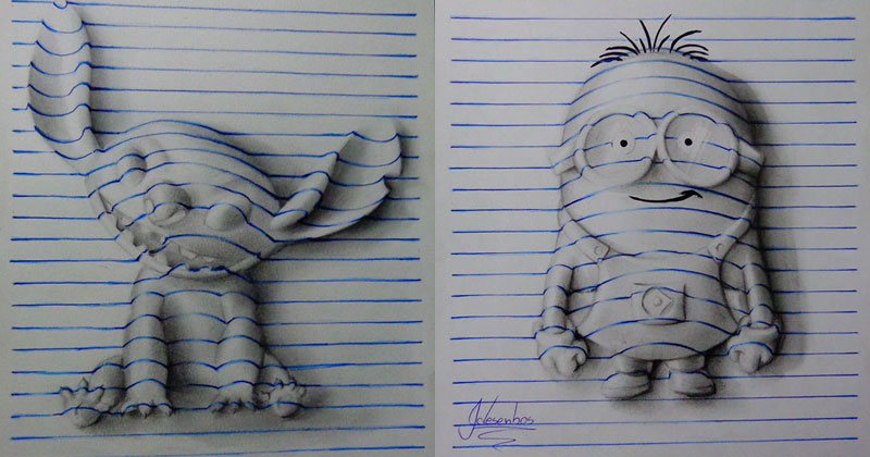 It's Hard to Believe this Notepad Art is Two-Dimensional