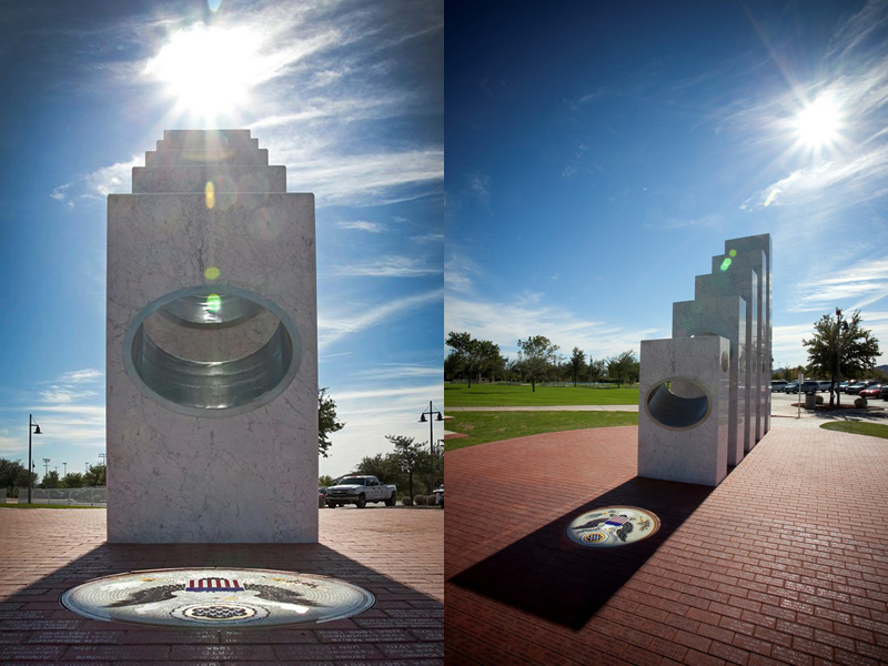 Once a Year at 11:11 am the Sun Shines Perfectly on thisMemorial