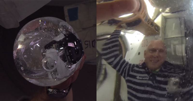 Astronauts Put GoPro Inside Water Bubble and Film the Results
