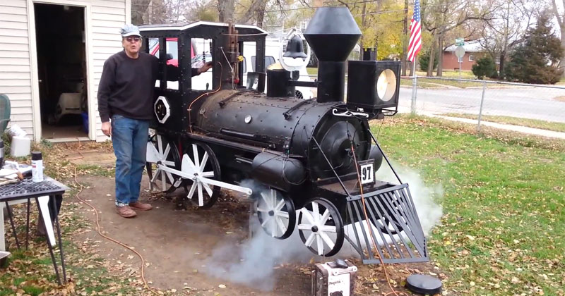 Guy Builds Epic Backyard BBQ Steam Engine Smoker