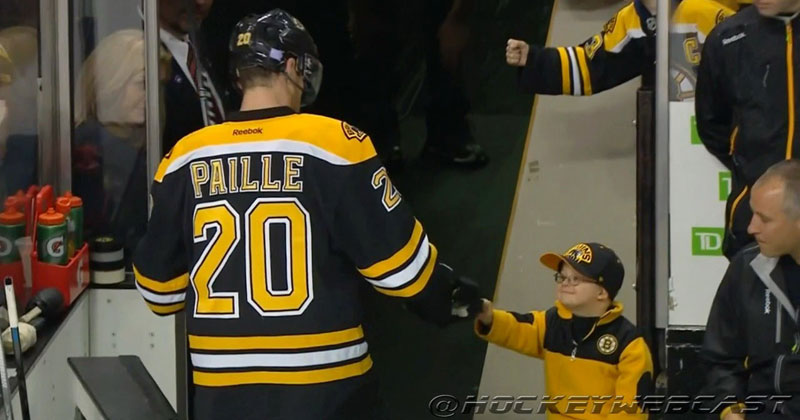 Boy with Down Syndrome Beats Leukemia, Fist Bumps with the BostonBruins
