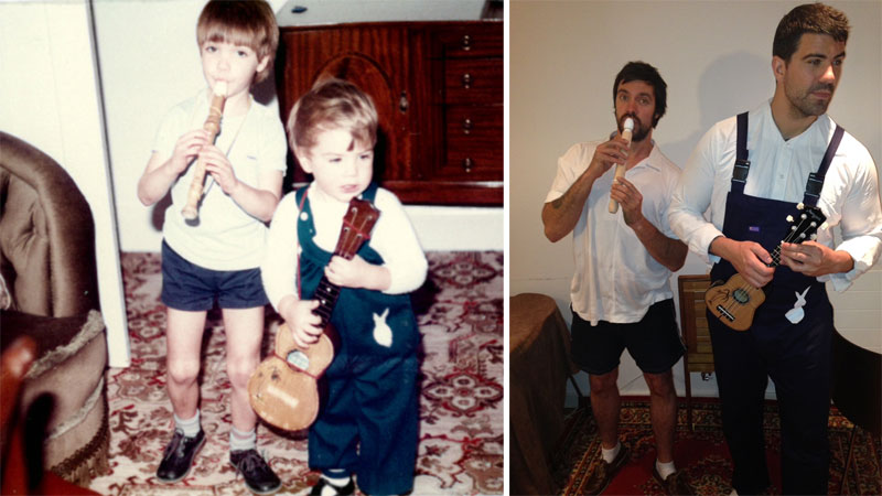 brothers recreate childhood photos for parents wedding anniversary (6)