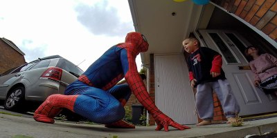 Dad Dresses as Spider-Man to Surprise 5-Year-Old Son BattlingCancer