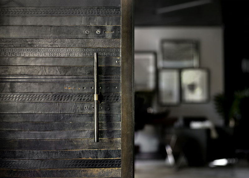 flooring rugs made from old leather belts by TING (5)