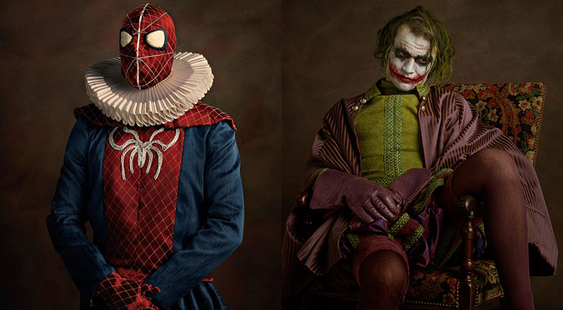 Heroes and Villains as Flemish PortraitPaintings