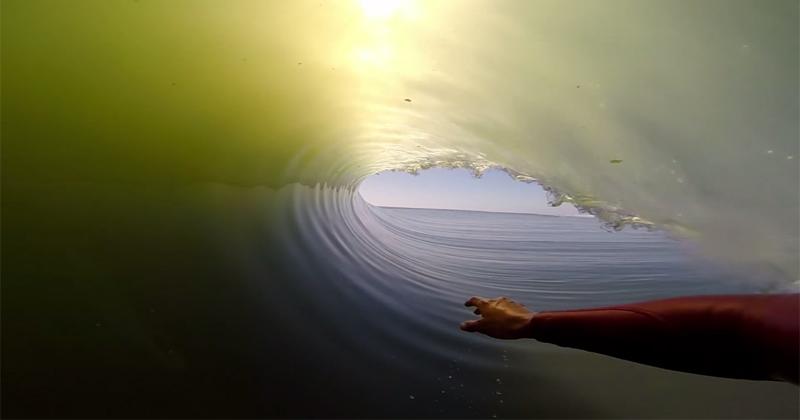 Inside A Second Long Barrel Wave TwistedSifter - Surfing inside 27 second long barrel wave