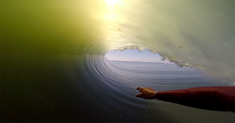 Inside a 27 Second Long Barrel Wave