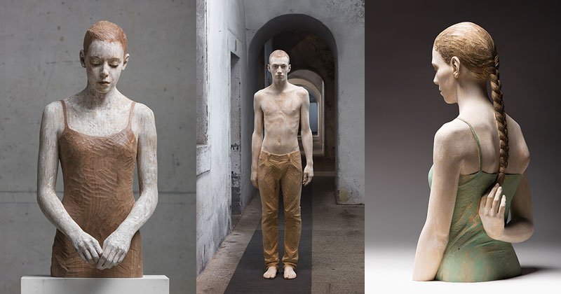 Incredibly Lifelike Wood Sculptures by BrunoWalpoth
