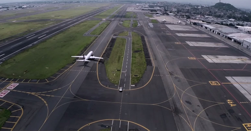 Drone Pilot Films Mexico City's International Airport from Above «TwistedSifter