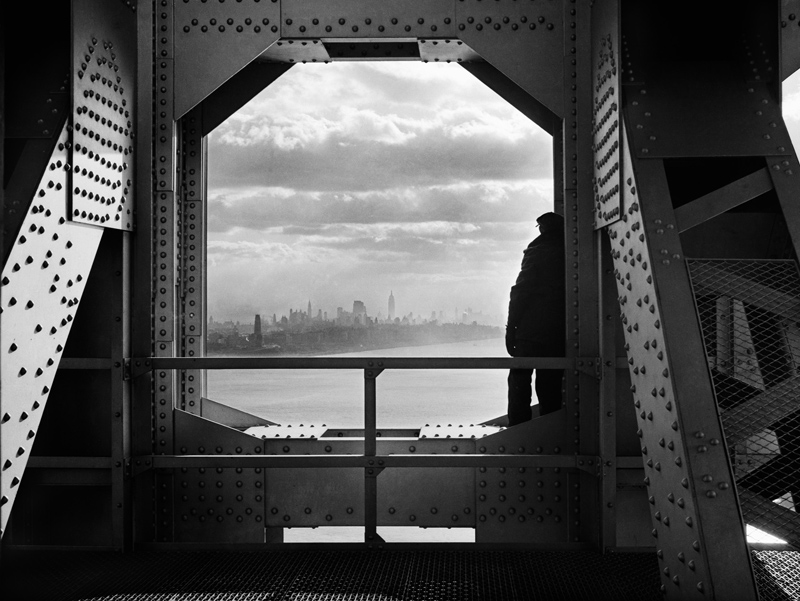 new york sunset from the george washington bridge 1936