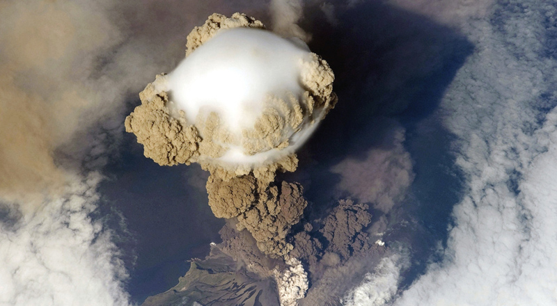 Picture of the Day: Volcanic Eruption from Above