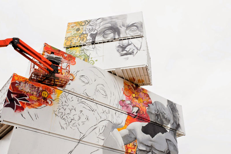 shipping container gods graffiti street art by pichi and avo north west walls belgium 2014 (2)