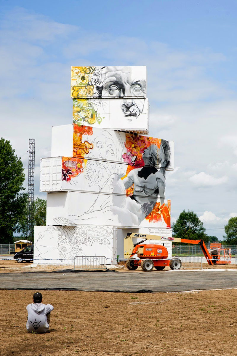 shipping container gods graffiti street art by pichi and avo north west walls belgium 2014 (3)