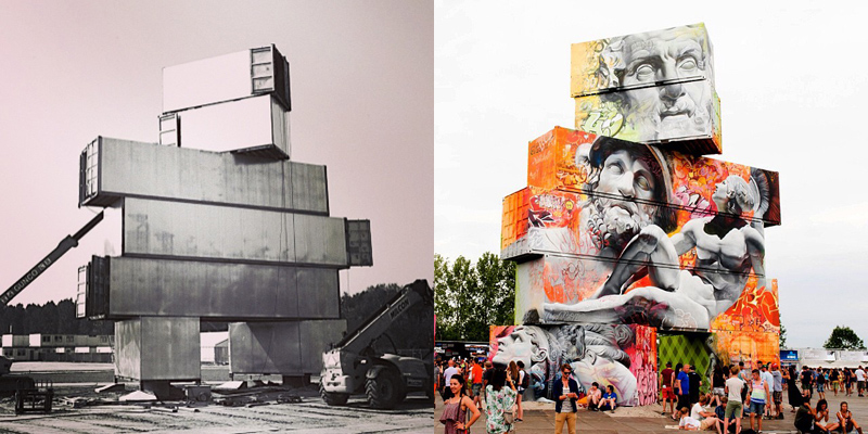 shipping container gods graffiti street art by pichi and avo north west walls belgium 2014 (8)