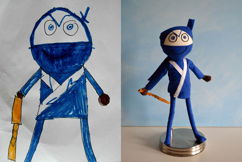 turning kids drawings into plush toys by childs own studio wendy tsao (1)