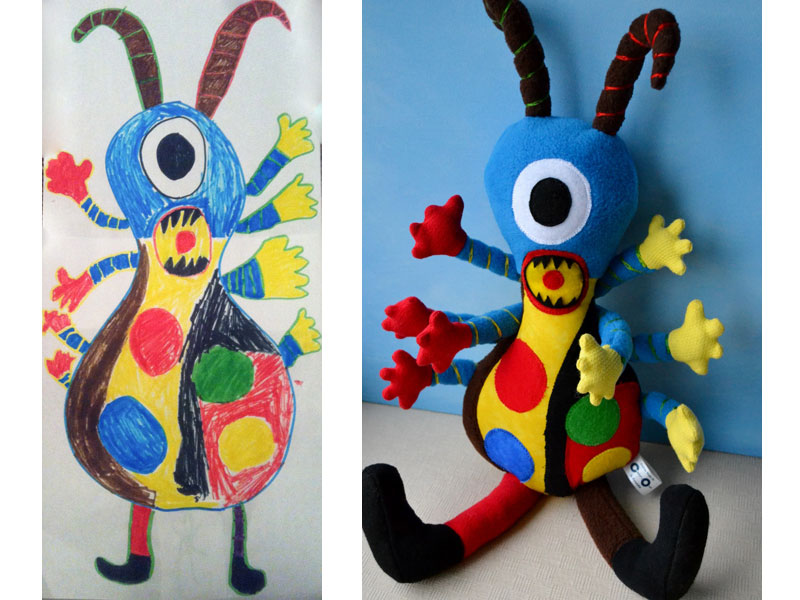 turning kids drawings into plush toys by childs own studio wendy tsao (10)