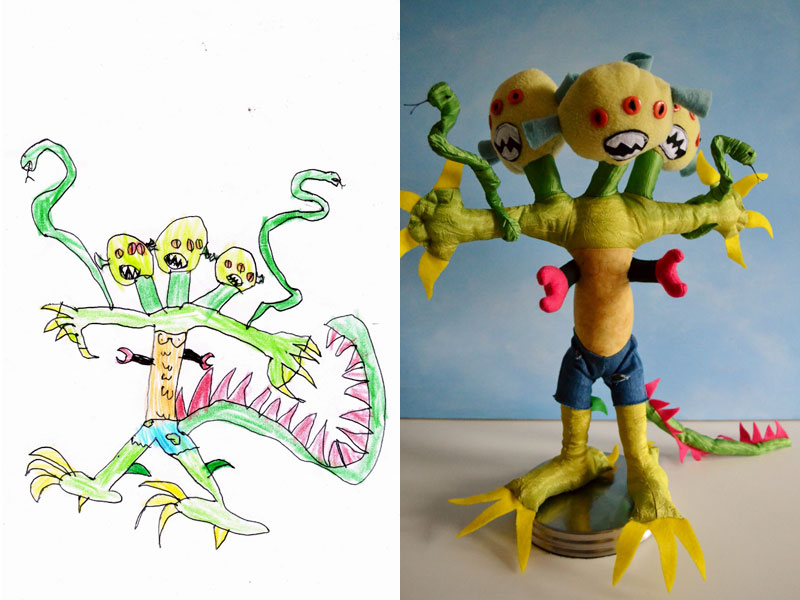 turning kids drawings into plush toys by childs own studio wendy tsao (12)