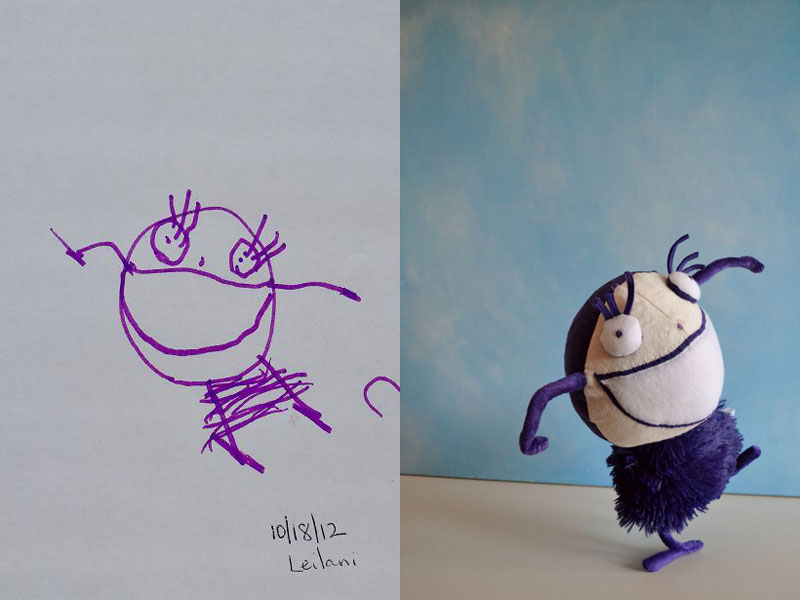 turning kids drawings into plush toys by childs own studio wendy tsao (3)