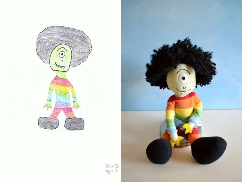 turning kids drawings into plush toys by childs own studio wendy tsao (7)