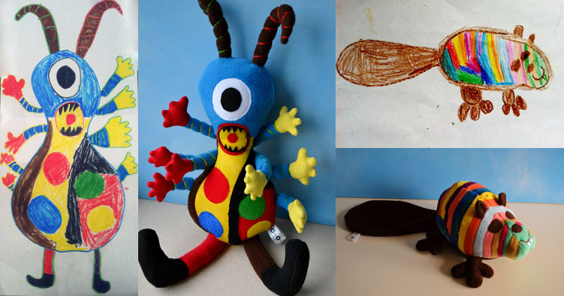 Artist Transforms Kids Drawings Into Plush Toys «TwistedSifter