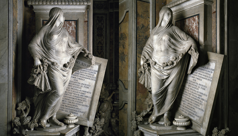 Veiled Figures Carved Out of Marble by AntonioCorradini