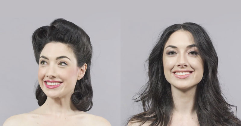 100 Years of Hair and Makeup in a SingleMinute