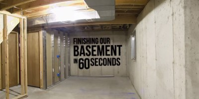 Basement Reno Timelapse: Unfinished to Finished in 60Seconds