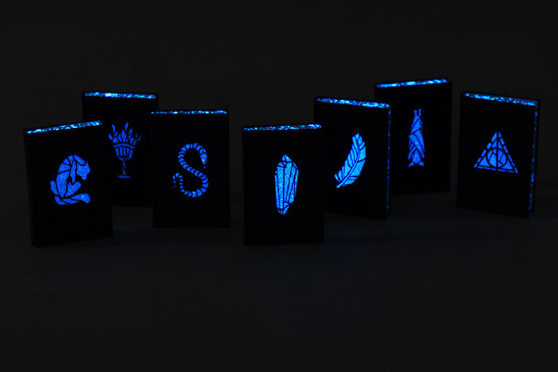 artist designs glow in the dark illustrated harry potter books (5)
