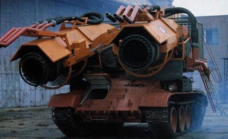 Engineers Retrofit a Tank with Jet Engines to Fight OilFires