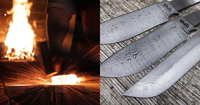 Blacksmith Forges 320 Layer Damascus Steel Blade