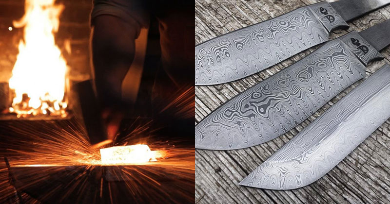 Blacksmith Forges 320 Layer Damascus Steel Blade