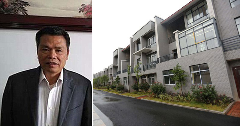 Chinese Millionaire Returns to Village, Builds Residents Free Luxury Homes for their Kindness Growing Up