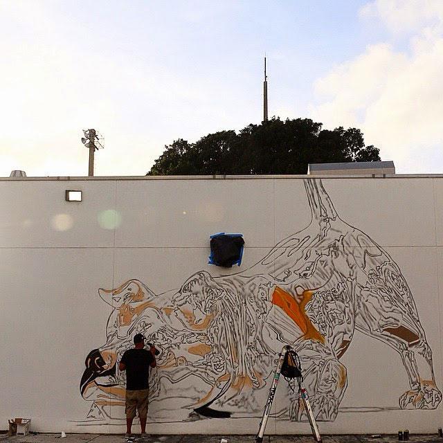 chrome dog mural by bikismo art basel miami 2014 (2)