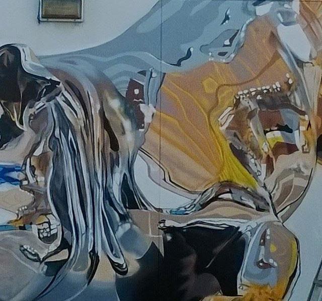 chrome dog mural by bikismo art basel miami 2014 (3)