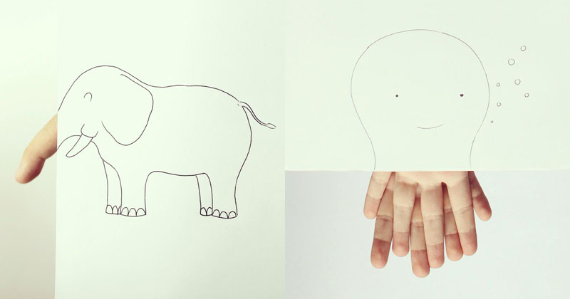 12 Clever Finger Doodles by Javier Perez