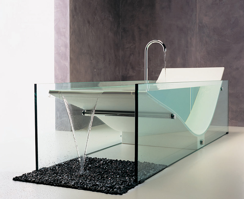 corbusier-inspired chaise bathtub le cob bath by omvivo