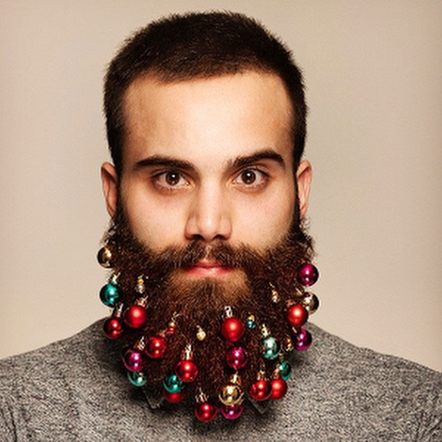 Festive Baubles Turn Beards Into Christmas Trees