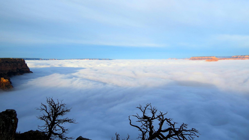 This is What the Grand Canyon Filled with Clouds LooksLike