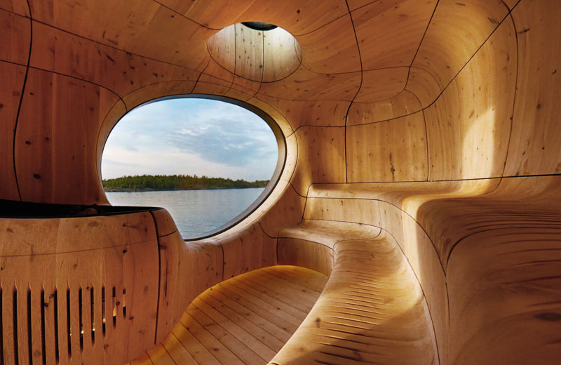 grotta sauna on the lake by partisans 3 Dan Pauly Builds Amazing Little Cabins You Might Find in a Fantasy Novel
