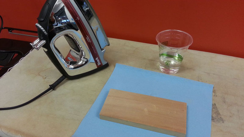 how to remove a dent from wood with an iron (1)